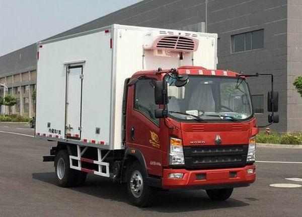 豪沃牌ZZ5047XLCF341CE145型冷藏车