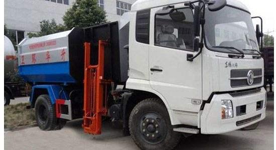 东风天锦挂桶式垃圾车