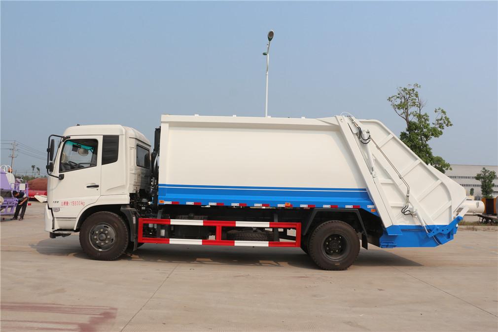 东风天锦10-12立方压缩式垃圾车
